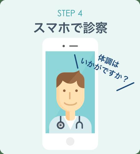 STEP4:スマホで診察