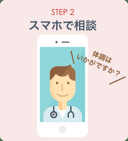 STEP2:スマホで相談