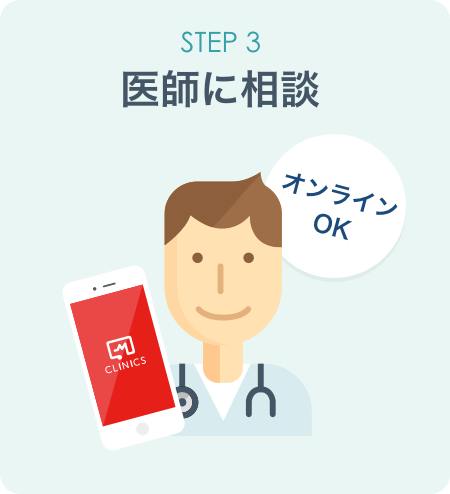 STEP3:医師に相談