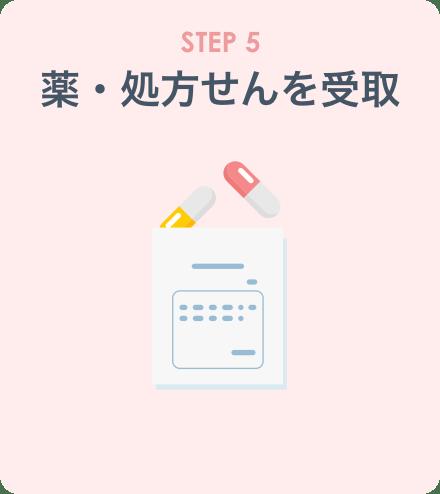 STEP5:薬・処方せんを受取
