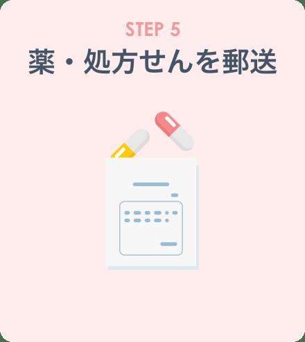 STEP5:薬・処方せんを郵送